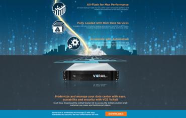 VxRail Market Education Campaign Landing Page Design